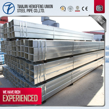 hot-dipped zinc coated galvanized square tube brackets/tubo galvanizado de acero