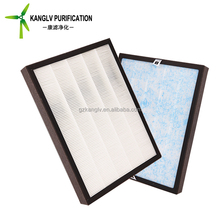 F7 cartridge cardboard frame mini pleat air filter, air purifier filtration with true hepa filter