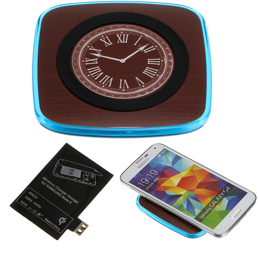 For Samsung Note 2 Qi Charger Receiver + 5V Micro Usb Qi Wireless Charger Pad Power Charing For Galaxy Note II N7100