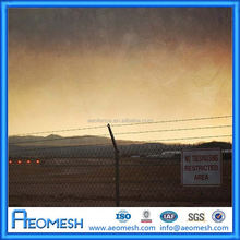 2015 Airport Area Most Safety And Popular clear panel fence panels/galvanized barbed wire/perimeter fence