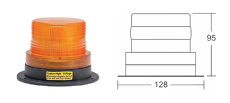 10V 12V 24V 80V beacon LED Strobe light for forklift XRL2010A