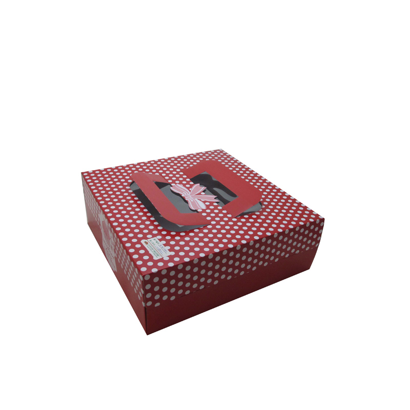 Custom luxury cake boxes/ birthday cake boxes/ personalized paper boxes with window