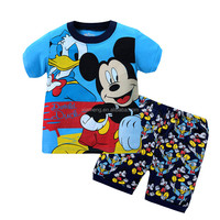 high quality colourful summer children clothing sets wholesale kids short sleeve pajamas