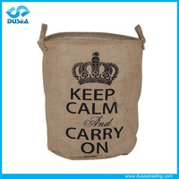 Fashion stripes custom size shopping bag foldable jute bag Hot sale eco friendly promotional printed cheap jute bag