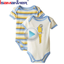 Wholesale custom deisgn infant clothing 100% cotton baby rompers