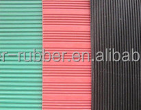 3mm fine ribbed industrial anti-slip rubber mat for sale