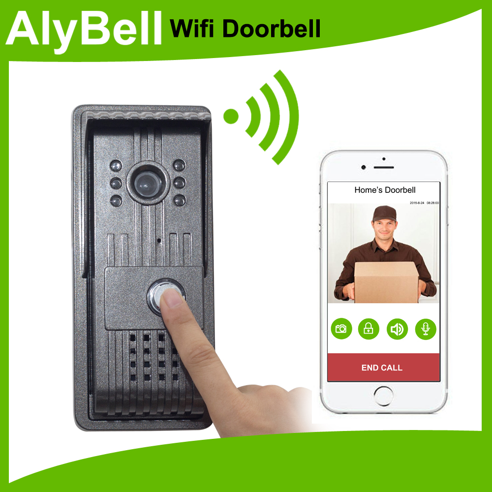 H.264 720P wireless Video Doorbell system Support iOS wifi door viewerAndroid APP,