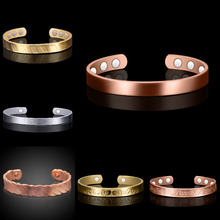 Pure Copper Magnetic Cuff Arthritis Armband health bio men magnetic copper bracelet wholesale
