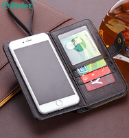 wallet PU flip cover with credit card slot for all mobile phones