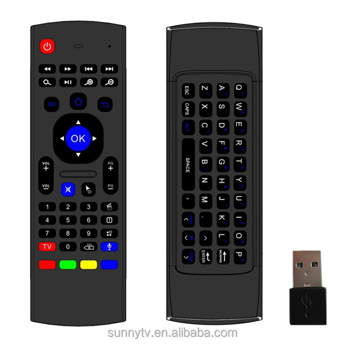 Wholesale MX3 Keyboard MX3 Air Mouse Remote Control Keyboard For PC Laptop Android TV Box 2.4Ghz Wireless Mini Keyboard