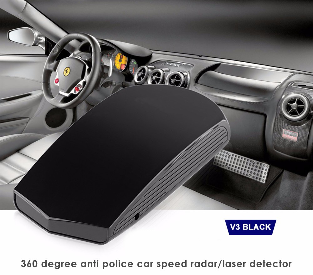 Best Police Radar Detector V3 with Early Warning LED Display