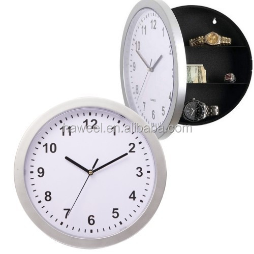 drop-shipping Wall Clock with Hidden Space Safe Clock for Valuables