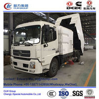 hydraulic road sweeper for tractor /with water washing function