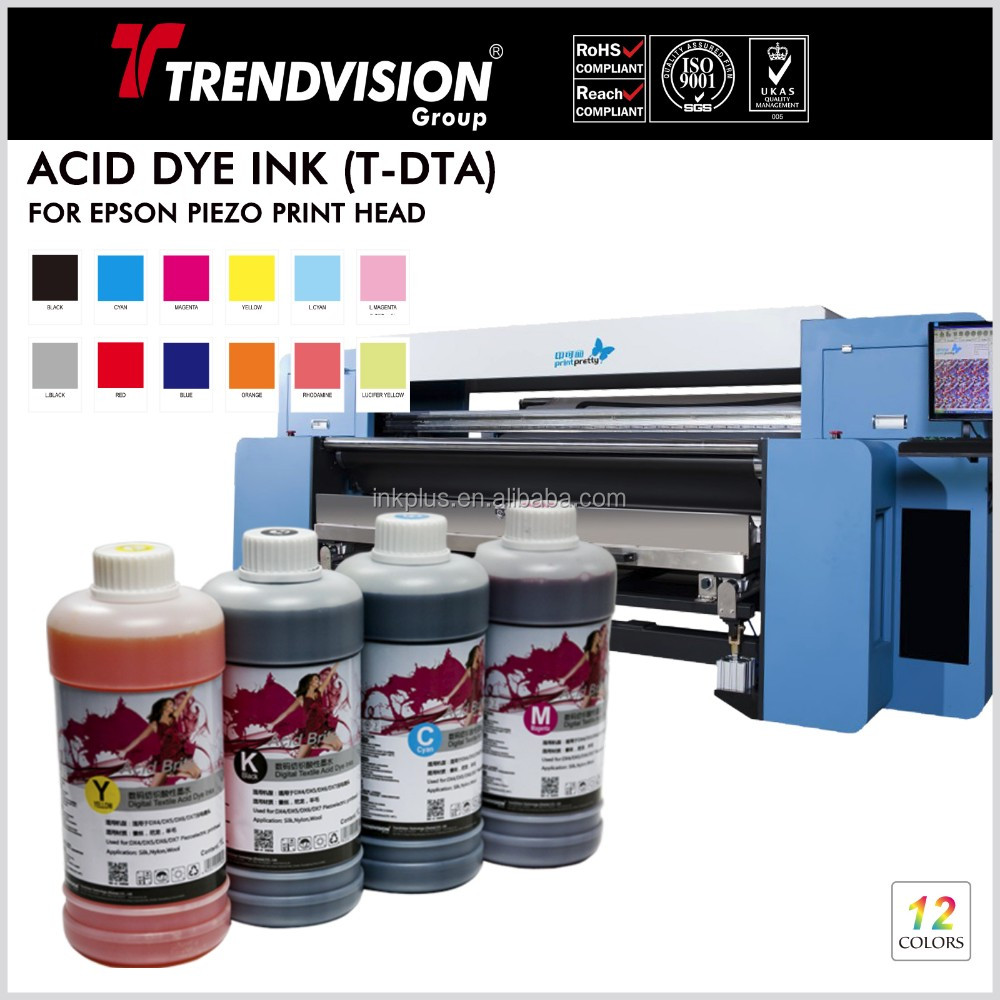 China supply Top quality Acid dye ink for digital textile/fabric printing