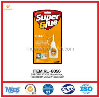 6g RILL brand instant super glue in plastic bottle