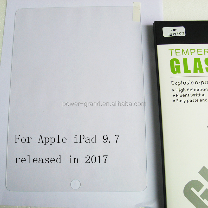 Tempered glass screen protector for Apple iPad 9.7 2017-0.33mm vertical (2).JPG
