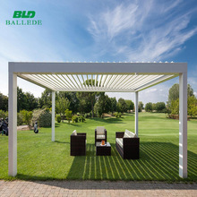 automatic rainproof outdoor aluminum roof louver pergola