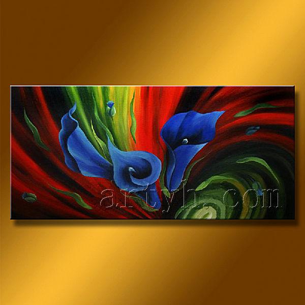 Tir moderne peinture l 39 huile de d coration florale nouveau design ch - Tableau peinture a l huile moderne ...