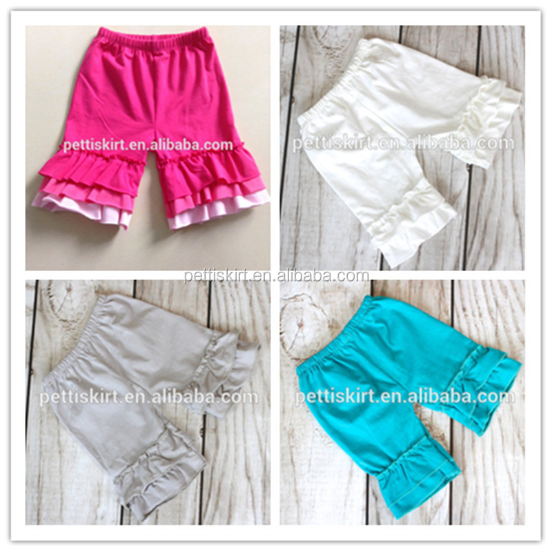 Summer Baby Solid Color Short Pants Beach Toddler Organic Cotton Newborn Ruffle Shorts