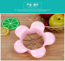 L00080 2017 New style good plastic fruit apple cutter slicer with wave shape handle