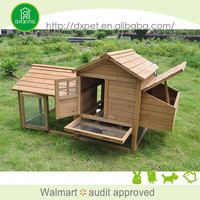 Professional made nature color flat pack wooden chicken house