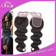 Natural Malaysian Hair 100% Virgin Raw Unprocessed Virgin Malaysian Hair Body Wave Closure 100% Grade 8a Virgin Hair