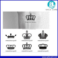 Cool Body Art Waterproof Temporary Tattoo Stickers Stencils For Painting Flash Crown Pattern Tattoos