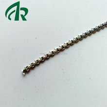 low price 2.5 stainless steel flatten BOXR box chain