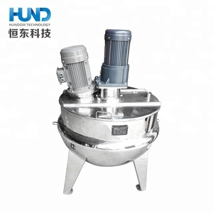 Food grade Electric/Gas /steam Heating cooker mixing machine for cooked chickpeas /fruits /sauce boiler kettle