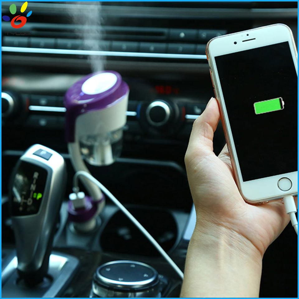Electric car mini water mist maker perfume air humidifier with usb adapter