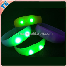 new products sound actived led slap bracelet