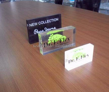 decorate acrylic display logo block