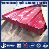 Prepaited roofing metal corrugated sheets for construction