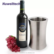 High Quality Stainless Steel Double Walled Wine Chiller Ice Bucket Premium Heavy-Duty Metal Champagne Bottle Cooler Bucket