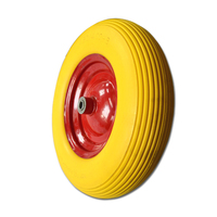 PU foam wheel for wholesale export wheelbarrow wheels with steel rims wheels