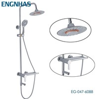 Single lever bath surface mounted shower faucet