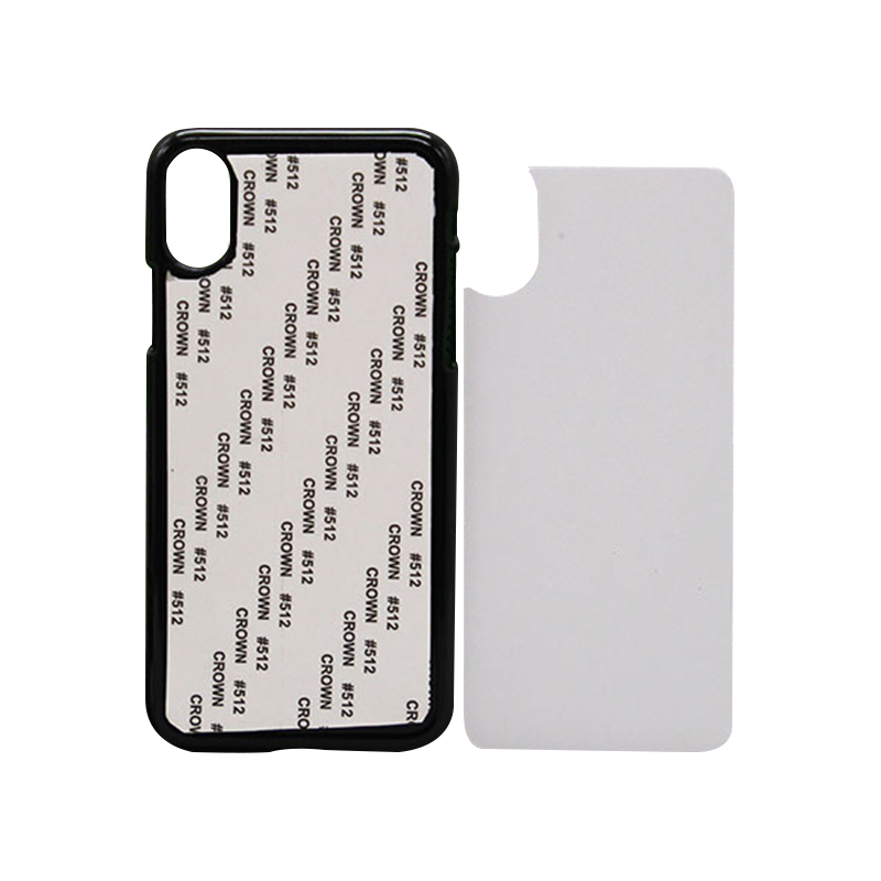 New Sublimation 2D Hard Plastic Phone Case With Aluminum Sheet for iPhonex