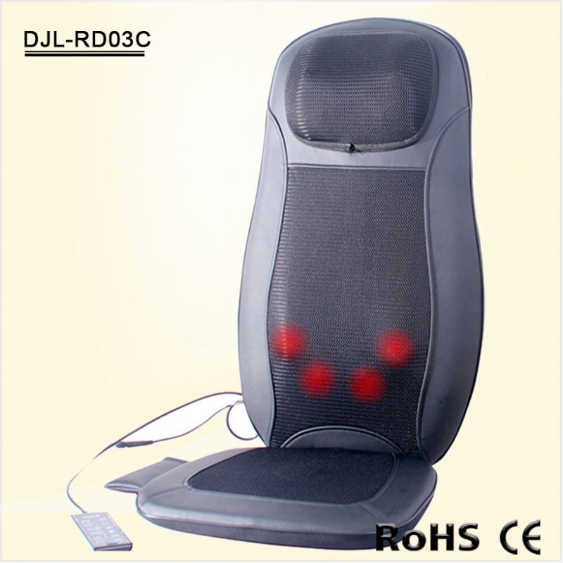 Neck and back Shaitsu Kneading massage seat cushion for Car & Home & Office use