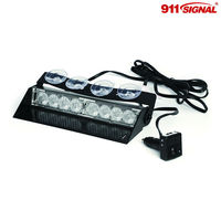 LED Car Visor Warning Light, 8pcs 3W led, 12V Warning Light (WITEL-T4)