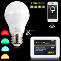 E27 E26 B22 lamp base low energy cost led bulb 6w color changing smart rgbw light lamp