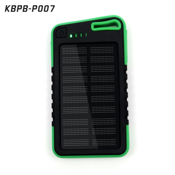 water proof solar power phone charger 5000 mah portable solar power bank for mobile phone