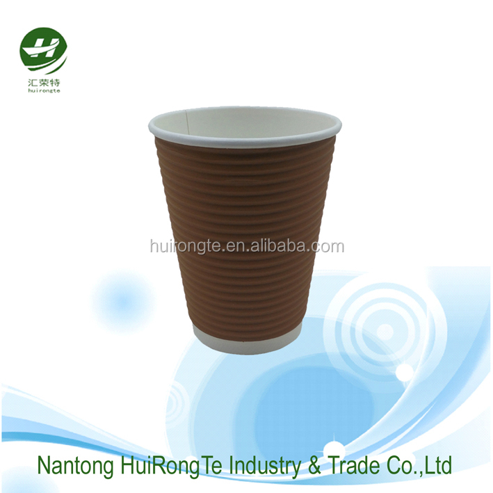 High Quality Hot Sale Custom Printed Ripple Wall Paper Coffee Cups