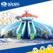 PVC customized inflatable water slide clearance, inflatable bouncer water slide
