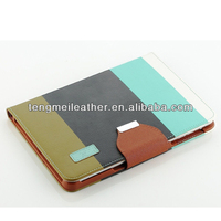 Blue Brown Green Hybrid Leather Wallet Flip Pouch Stand Cover case for ipad air/5th