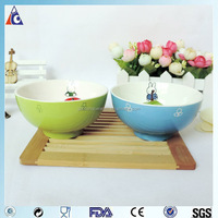 Microwave safe white ceramic soup bowl