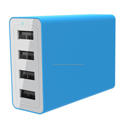 Multi colorful 4 port usb wall charger CE/FCC/CB/ universal laptop charger for portable phone charger