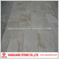 White tumbled travertine tile french pattern floor design