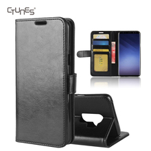 CTUNES Retro Flip PU Leather Wallet Stand Cover Card Slots Phone Case for Samsung Galaxy S9