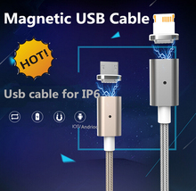 New products 2016 magnetic usb cable with adapter for Iphone and Android cable