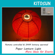 Beautiful LED Paper lantern lights for mother's day decoration